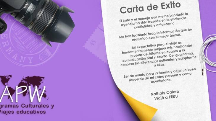Historia de Éxito – Nathaly Calero