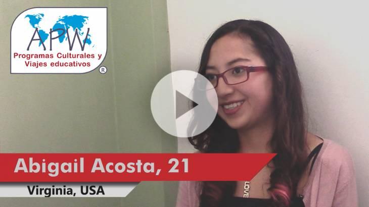 Abigail Acosta viaja a EEUU