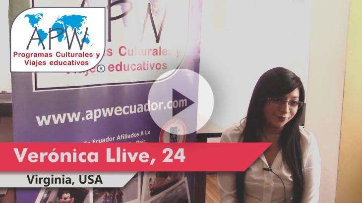 Verónica Llive viajó a EEUU