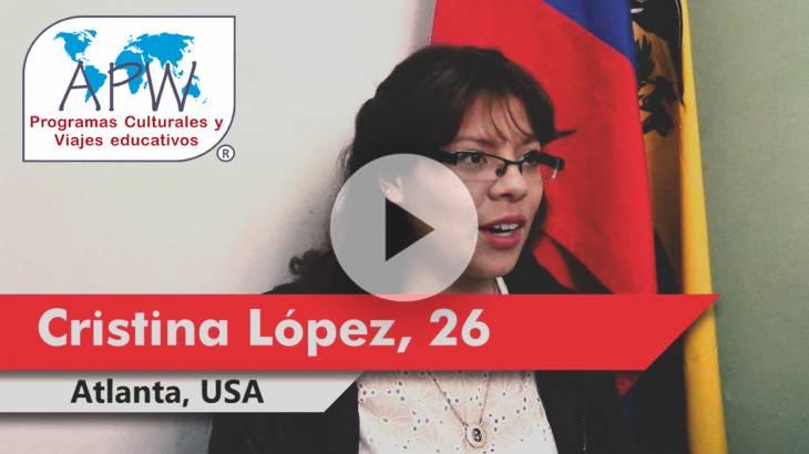 Cristina López viaja a Estados Unidos
