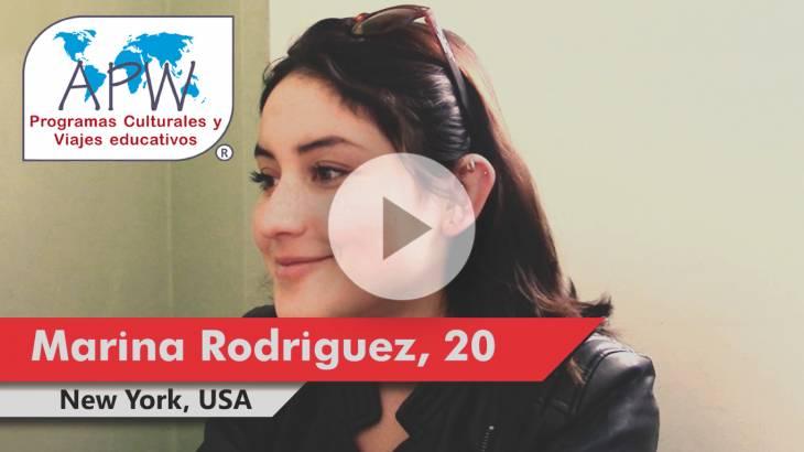 Marina Rodriguez viaja a EEUU